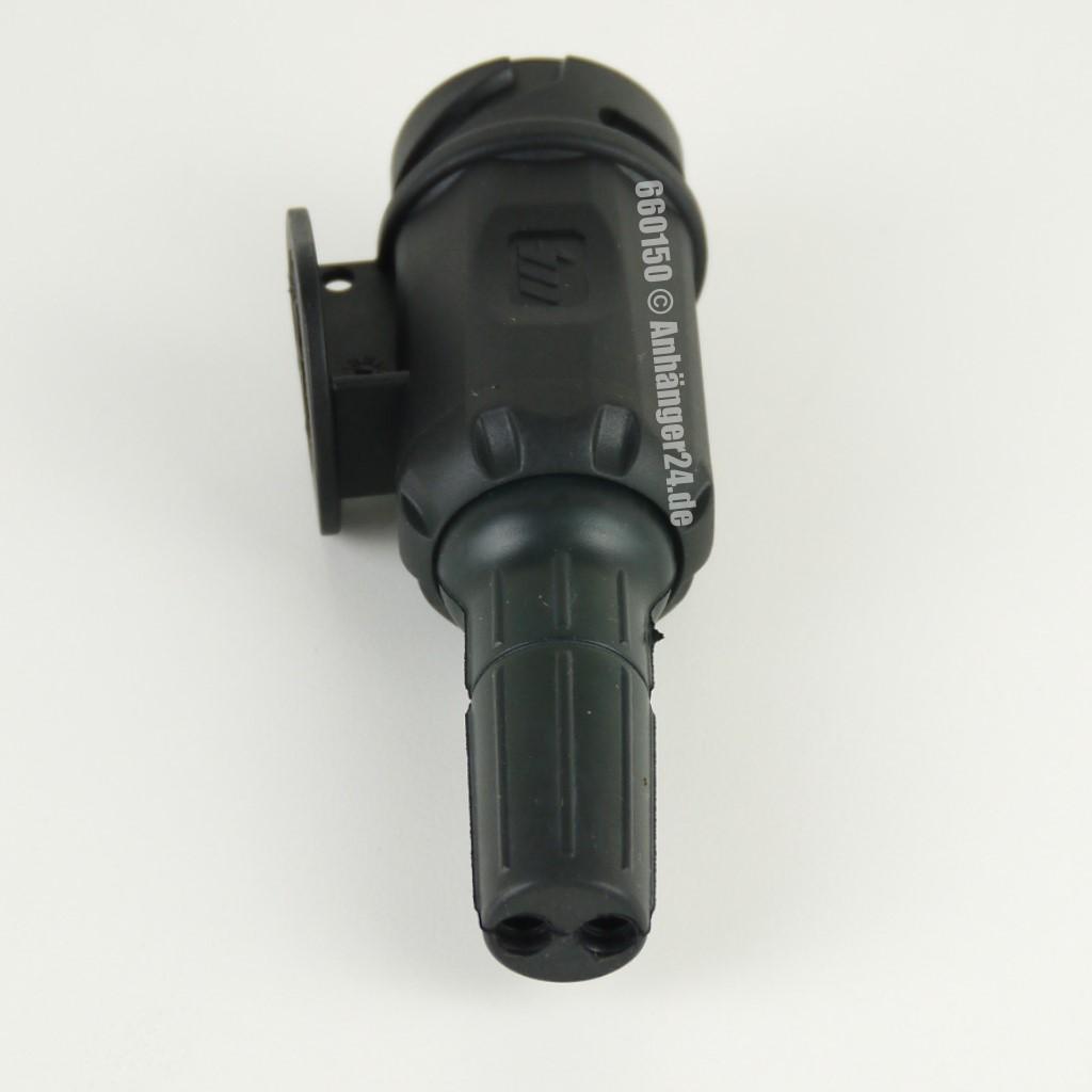 A24) Stecker 13-pol./12V, PVC, Bajonett. (8-pol. belegt) Anhänger24-SHOP