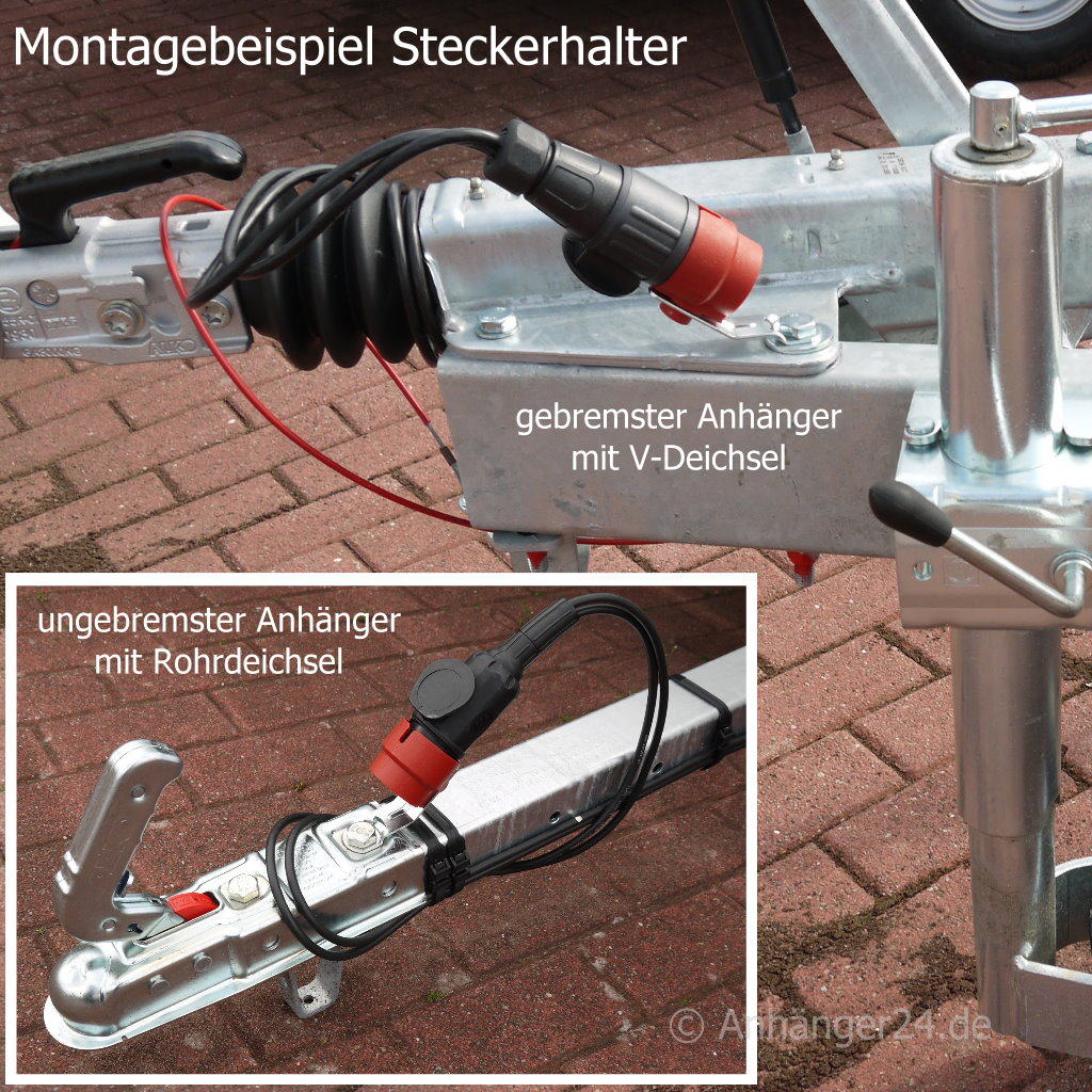 Anh/ängerstecker Halterung Auto 7 Poliger Stecker Anh/änger Dose 13 Polig