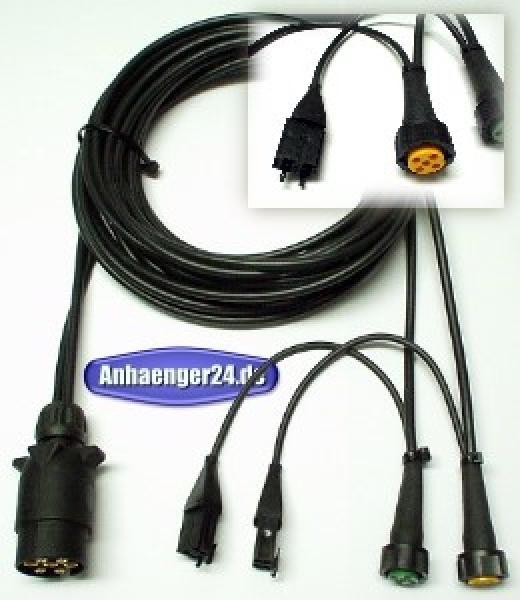 A24) ASPÖCK Kabelsatz 7-polig 10m Anschlusskabel Bajonett 5BA ...